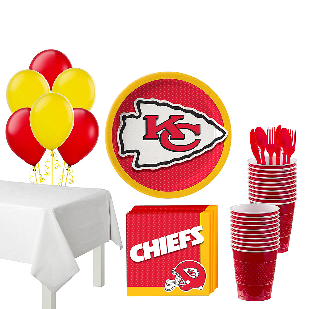 Super Kansas City Chiefs Party Kit for 18 Guests Image #1
