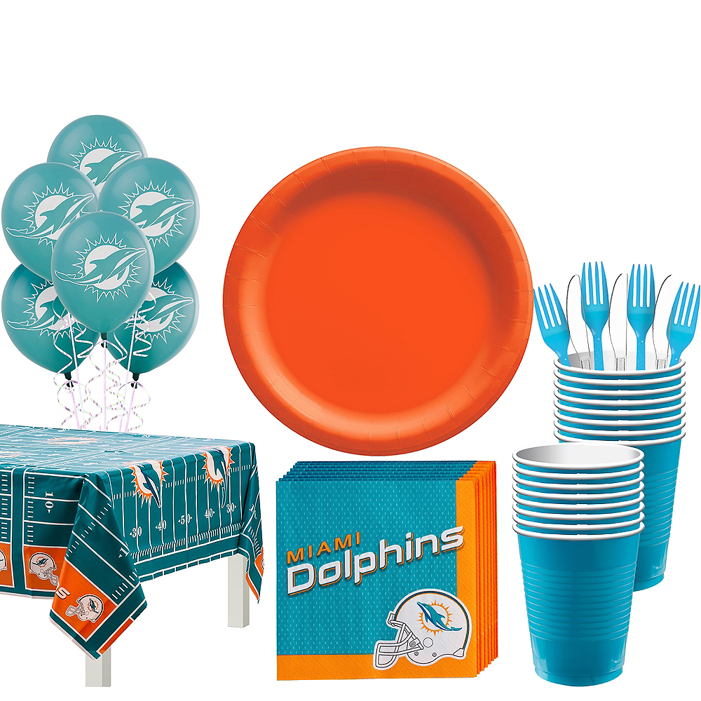 Super Miami Dolphins Party Kit for 18 Guests Image #1