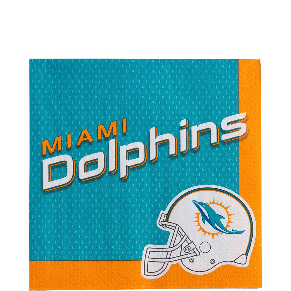 Super Miami Dolphins Party Kit for 18 Guests Image #3