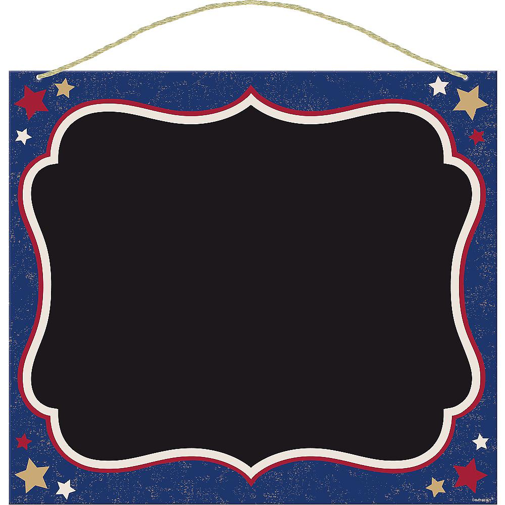 Patriotic Chalkboard Sign - Rustic Americana Image #1