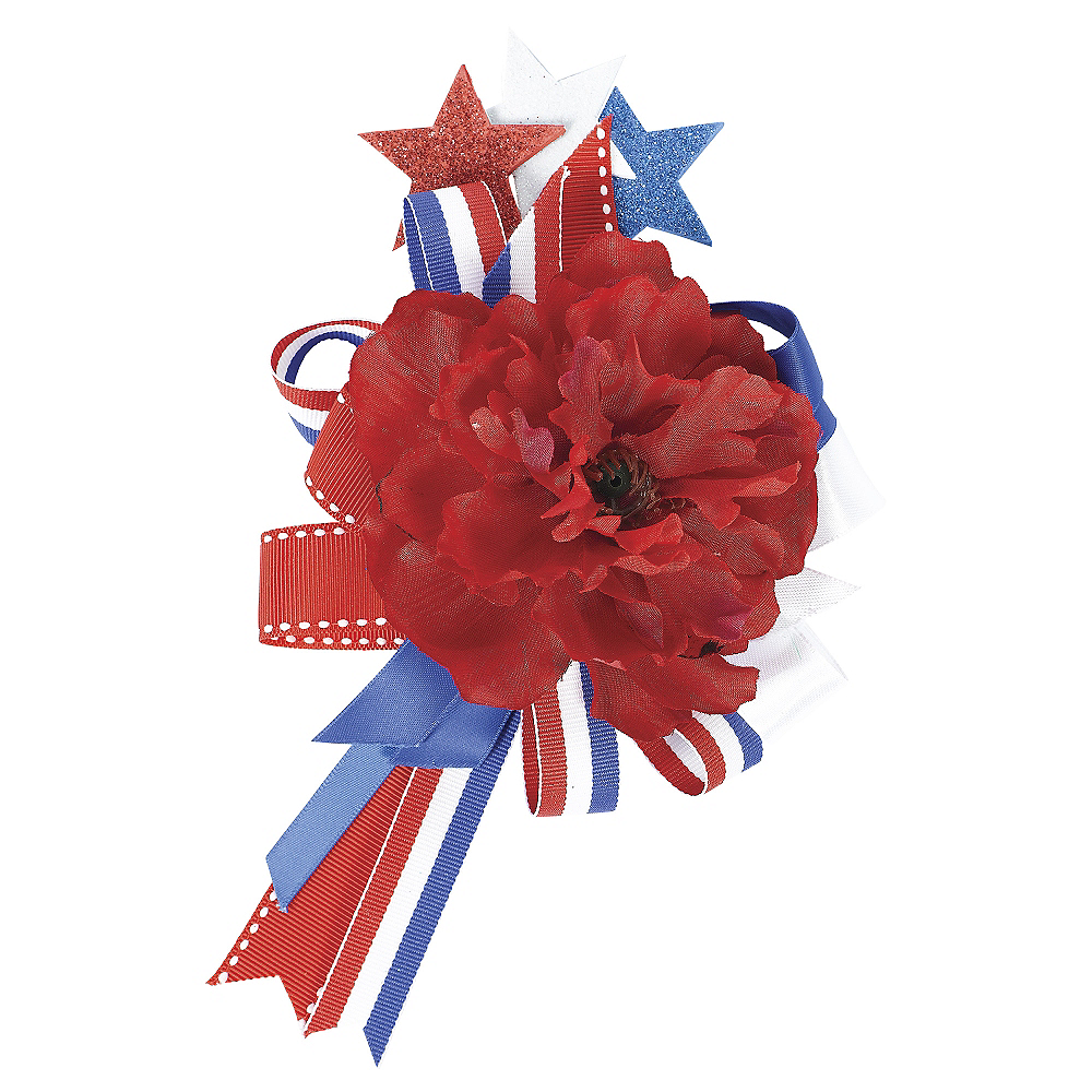 Nav Item for Red, White & Blue Hair Clip Image #1