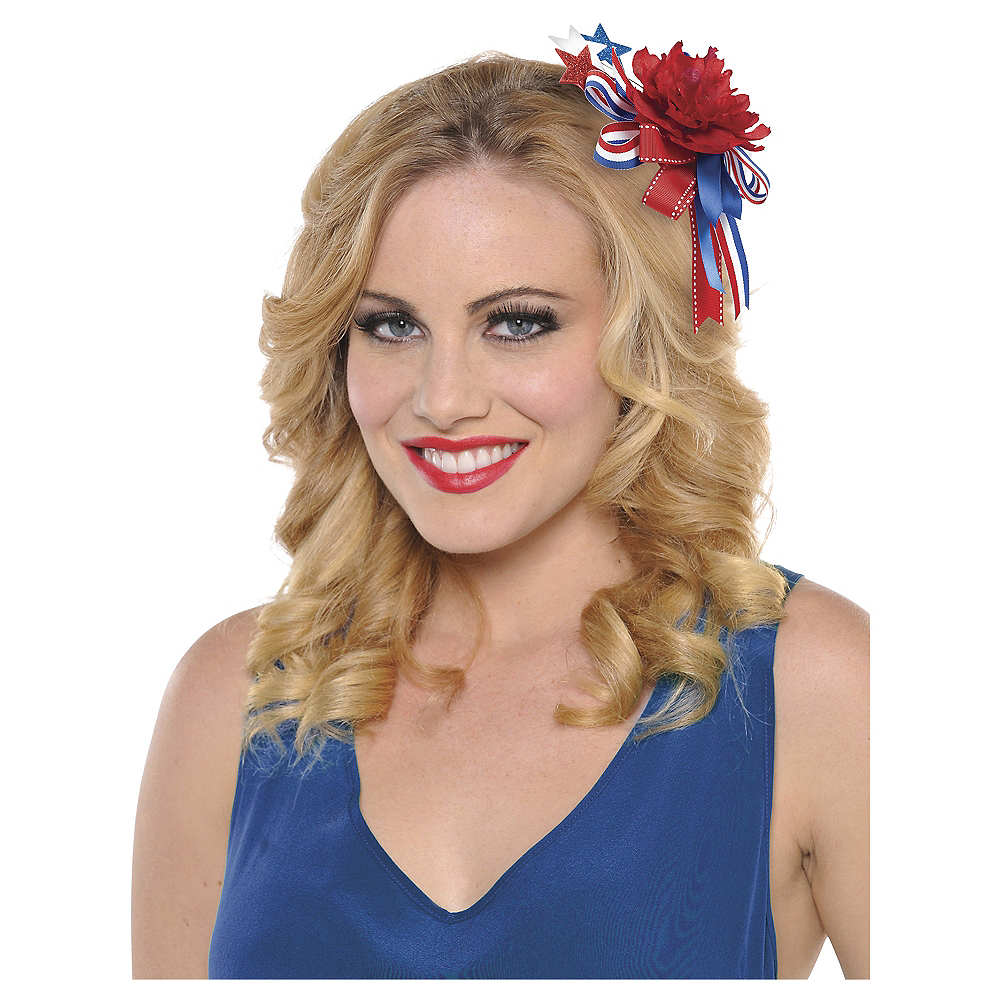 Nav Item for Red, White & Blue Hair Clip Image #2