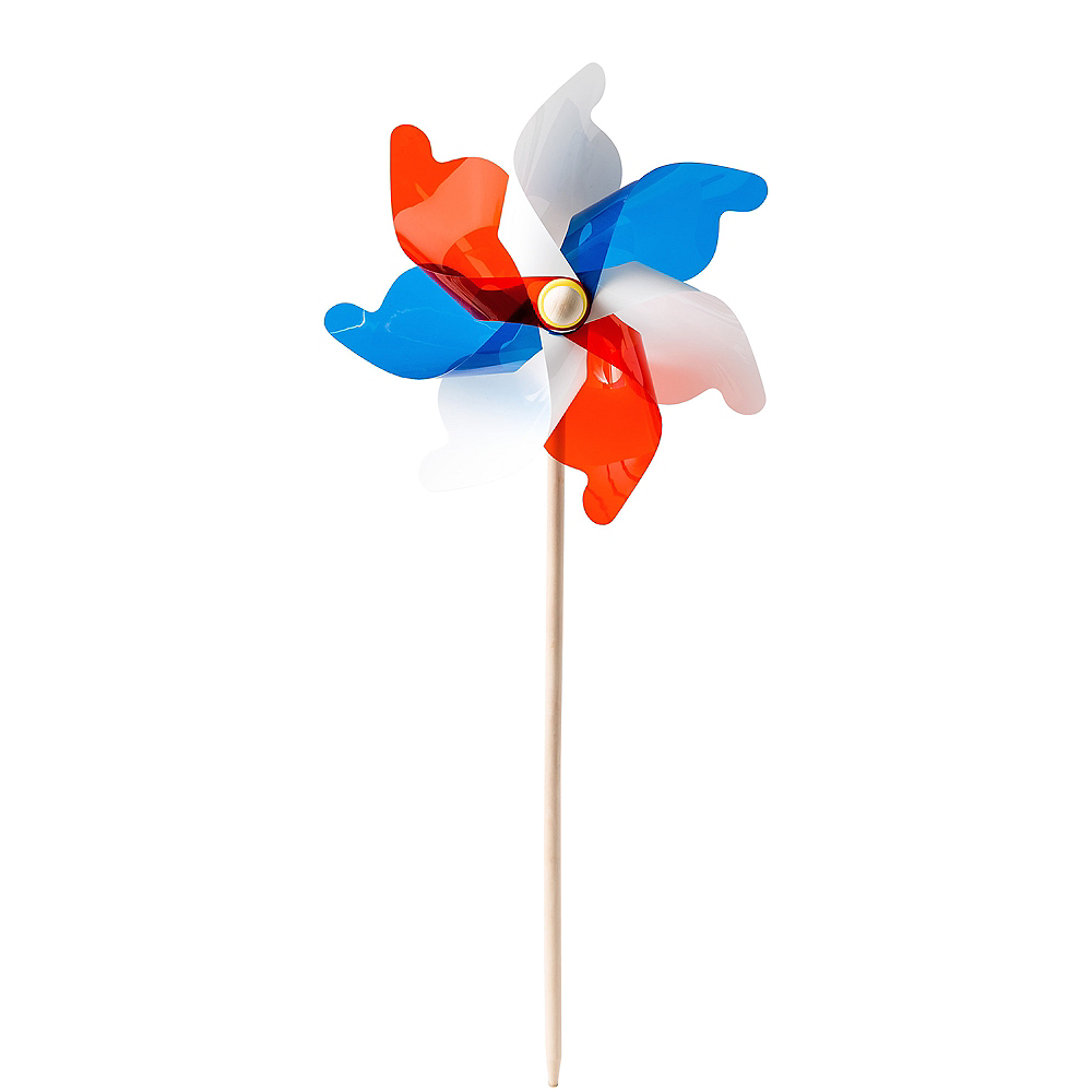 Patriotic Red, White & Blue Pinwheel Yard Stake Image #1