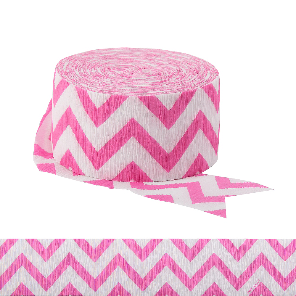 Bright Pink Chevron Streamer Image #1