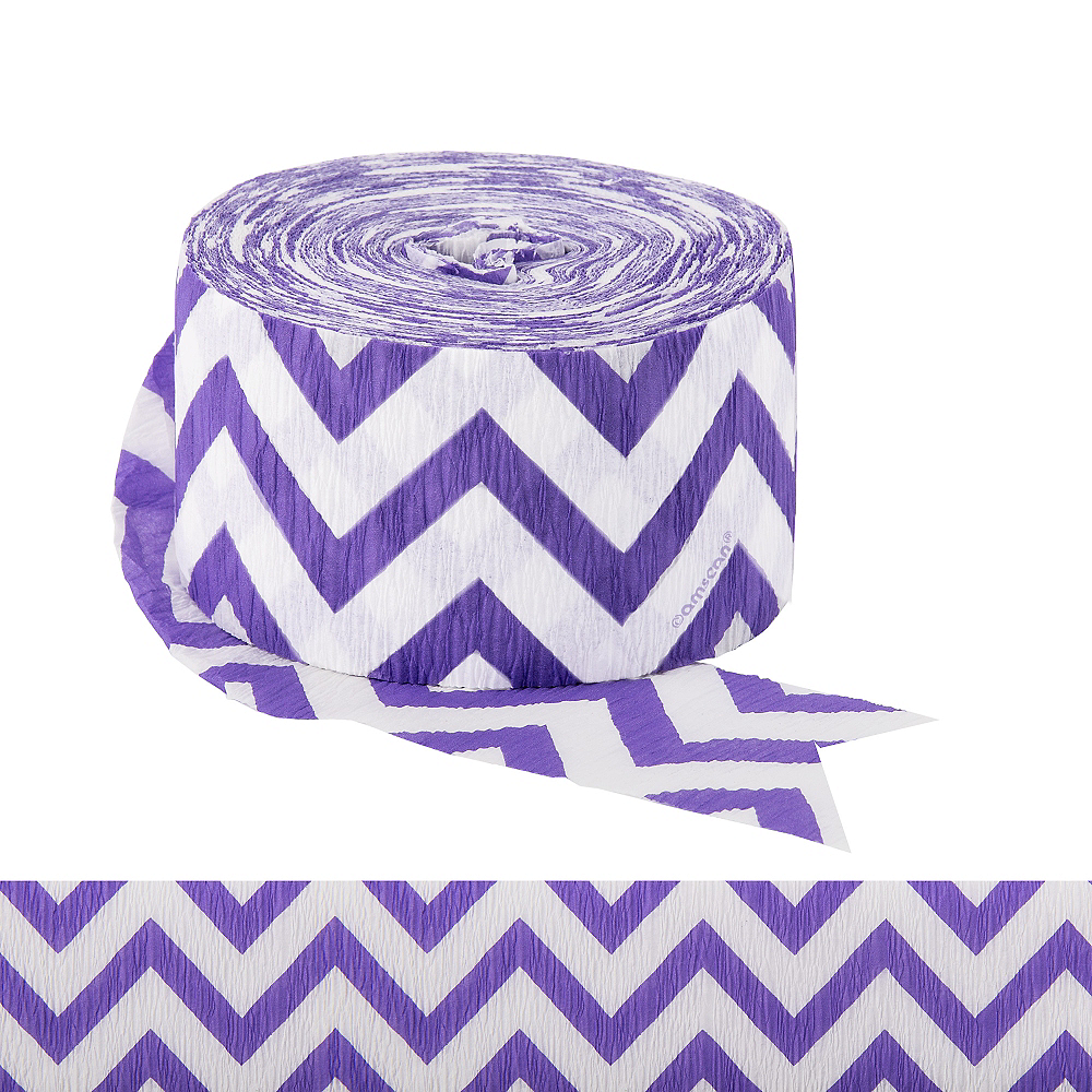 Purple Chevron Streamer Image #1
