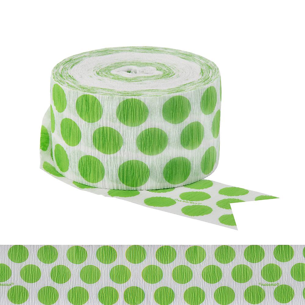 Kiwi Green Polka Dot Streamer Image #1
