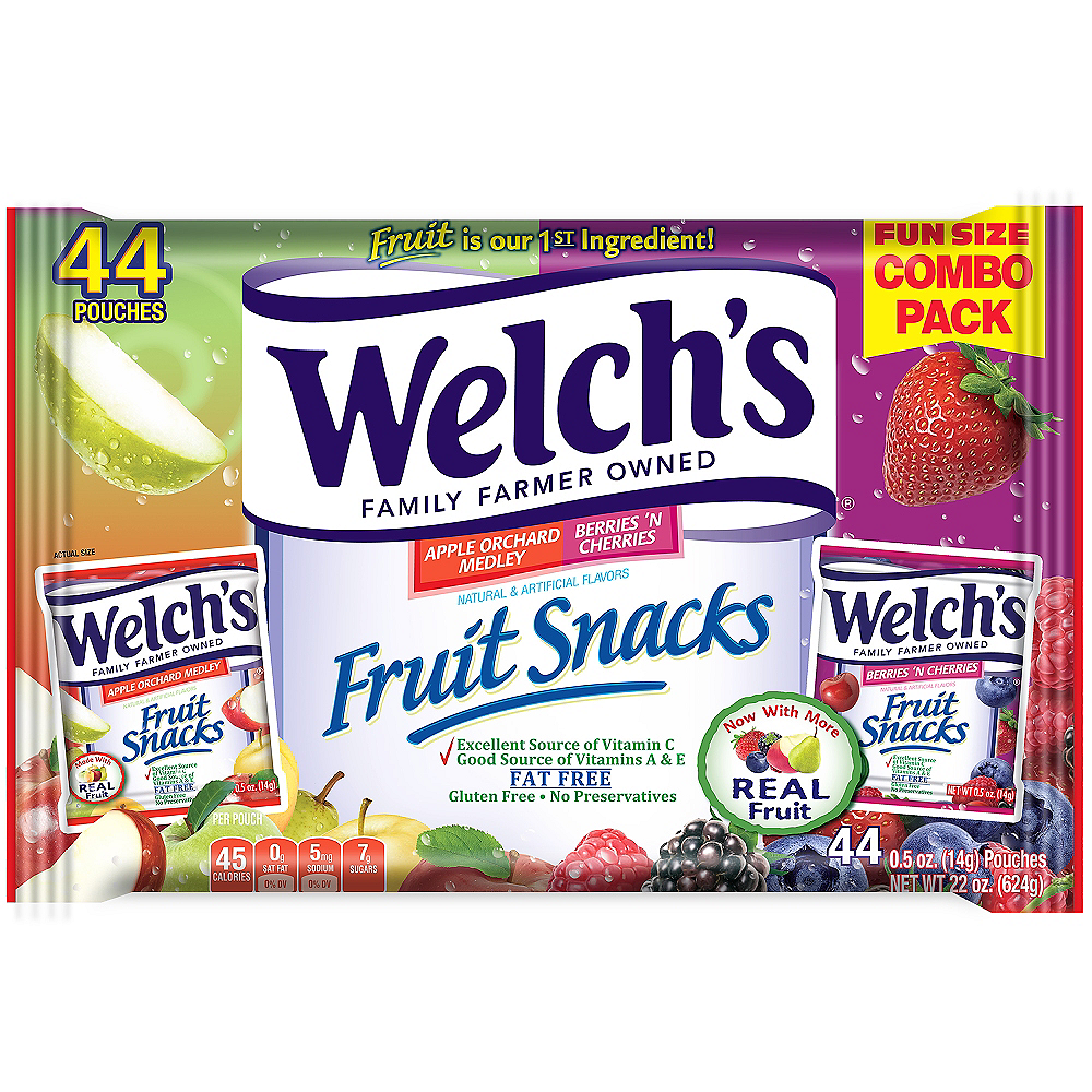 Welch's Apple Orchard Medley & Berries 'N Cherries Fruit Snacks Pouches 44ct Image #1