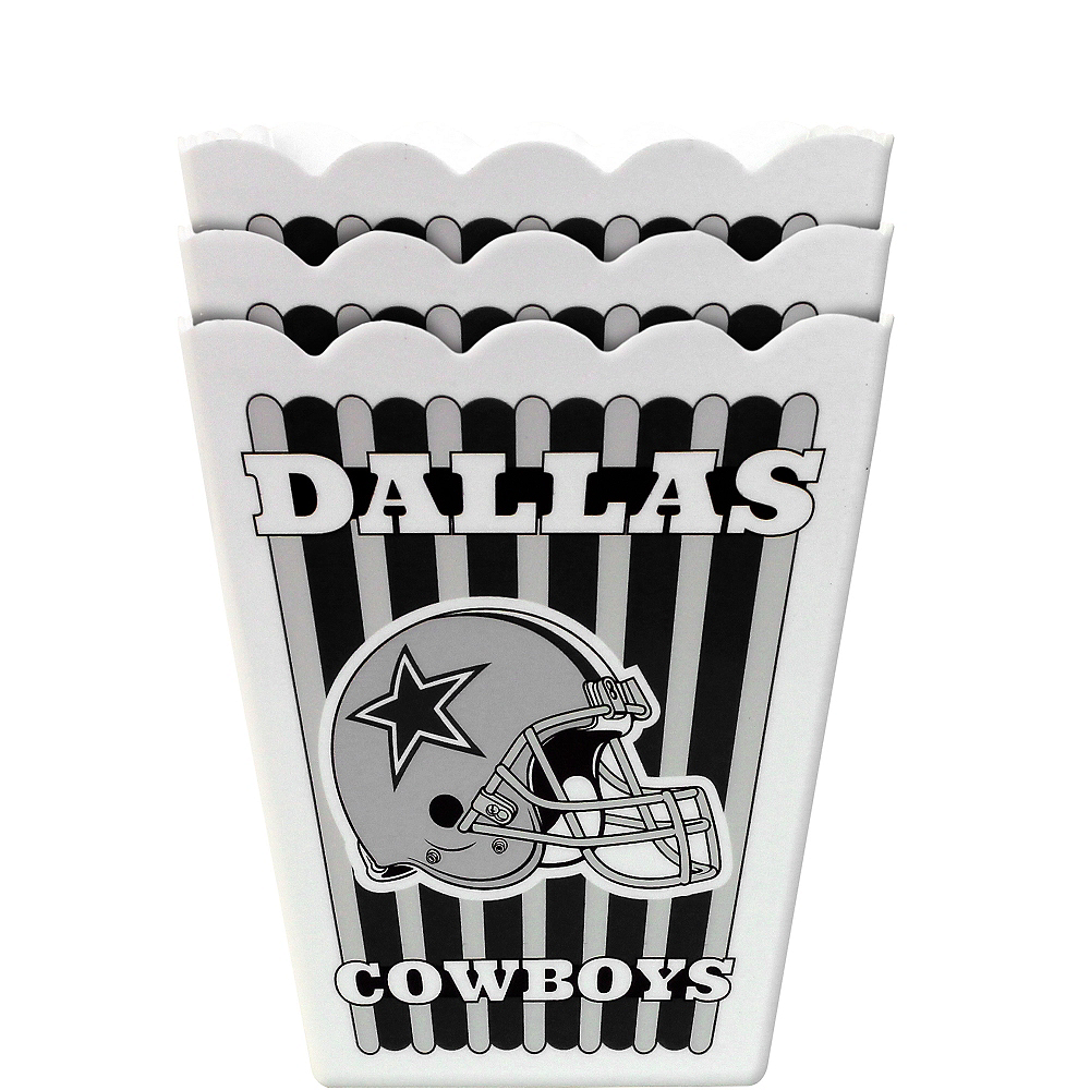 Dallas Cowboys Popcorn Boxes 3ct Image #1