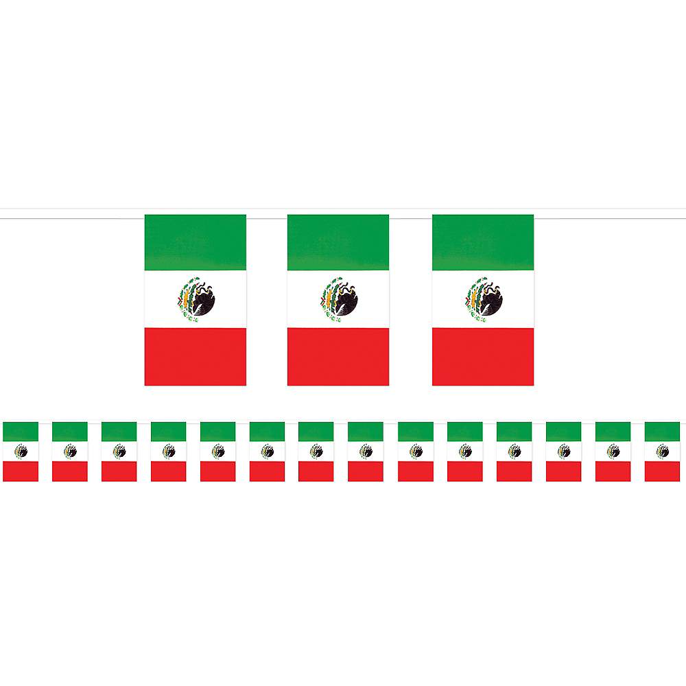 Nav Item for Giant Mexican Flag Pennant Banner Image #1