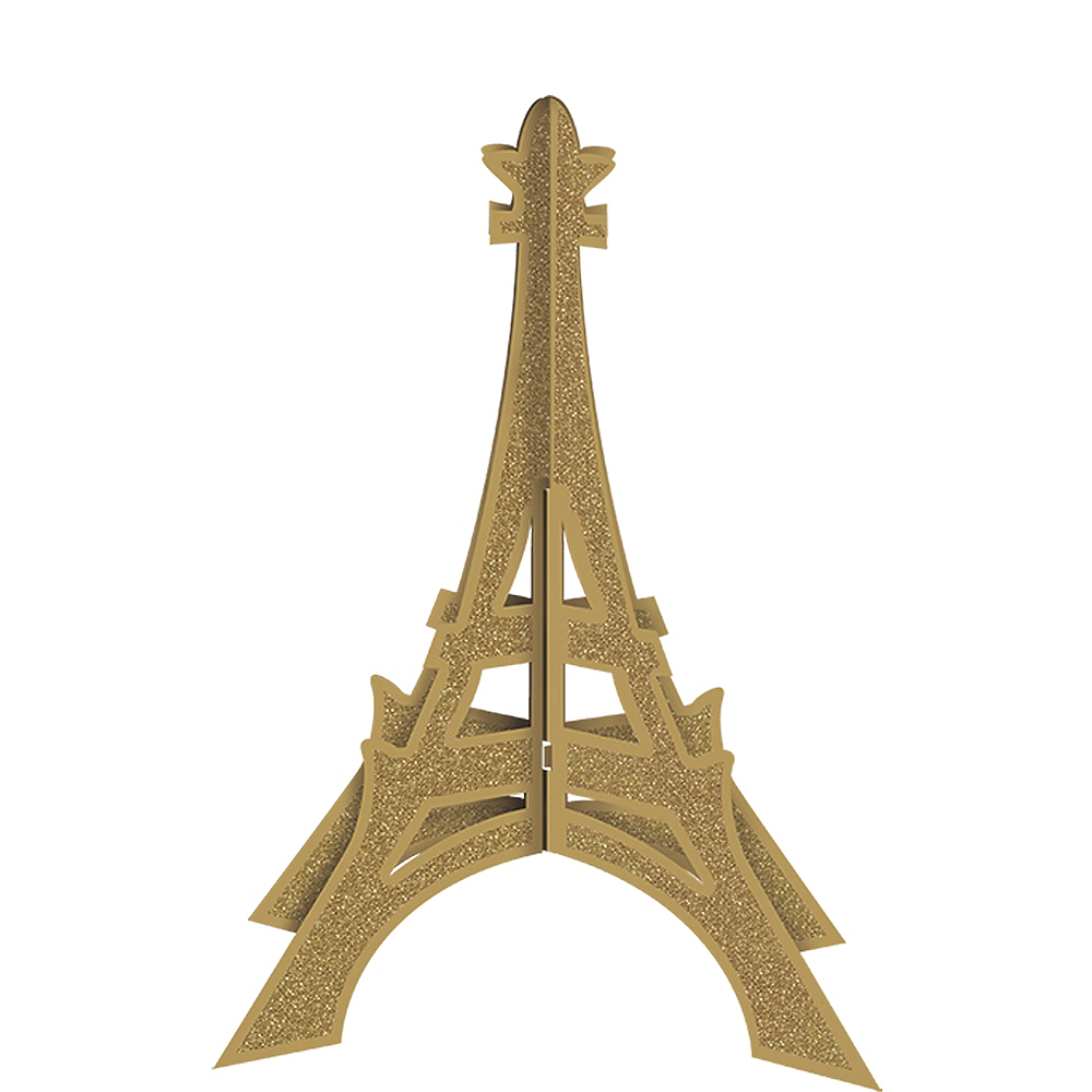 Glitter Gold Eiffel Tower Centerpiece Image #1