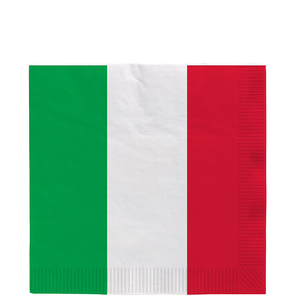 Red, White & Green Lunch Napkins 16ct Image #1