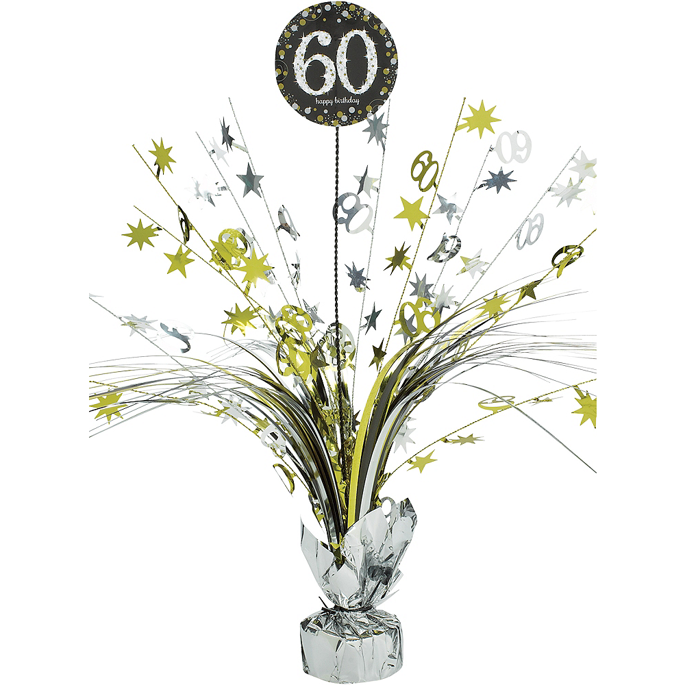 Nav Item for 60th Birthday Spray Centerpiece - Sparkling Celebration Image #1
