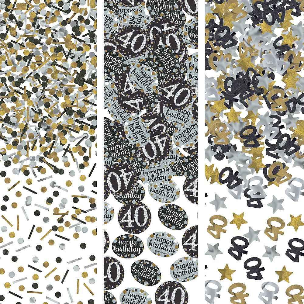 40th Birthday Confetti - Sparkling Celebration Image #1