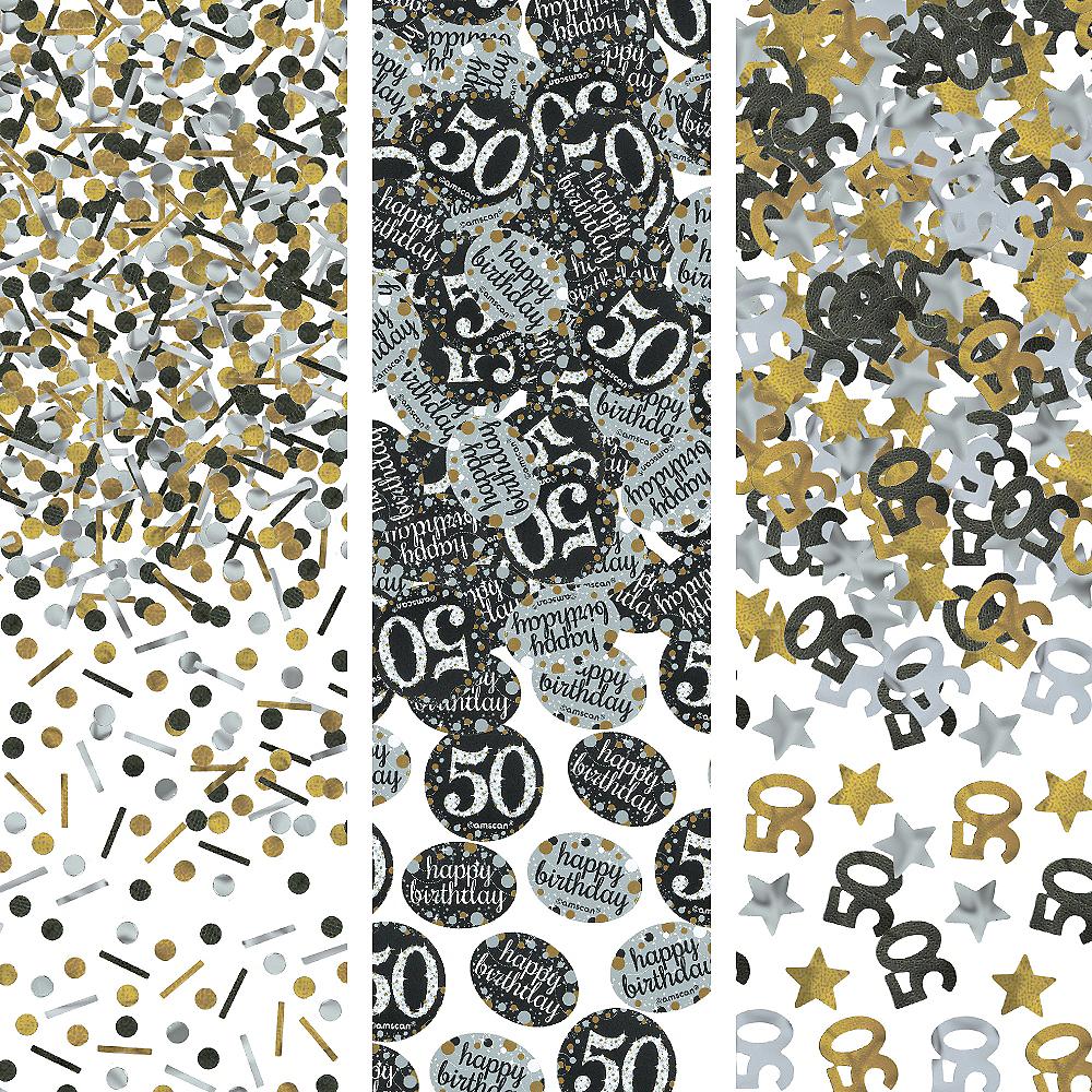 50th Birthday Confetti - Sparkling Celebration Image #1