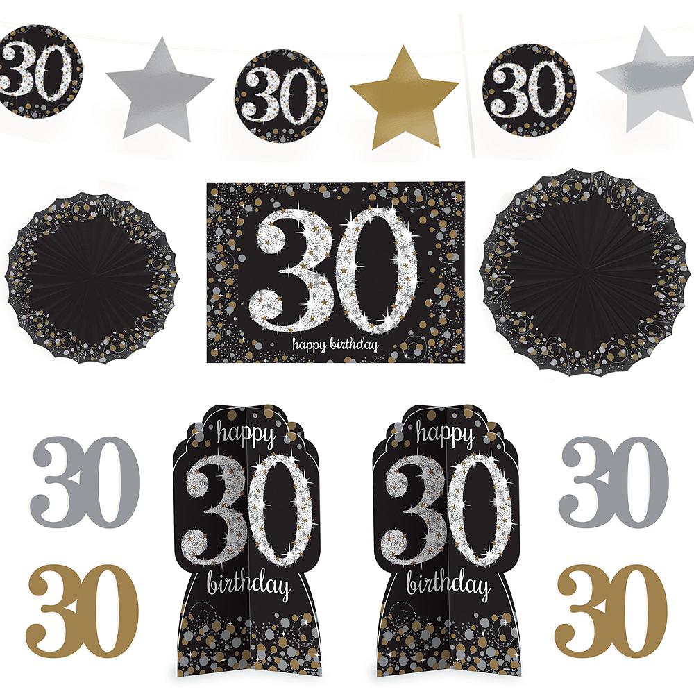 30th Birthday Room Decorating Kit 10pc - Sparkling Celebration Image #1