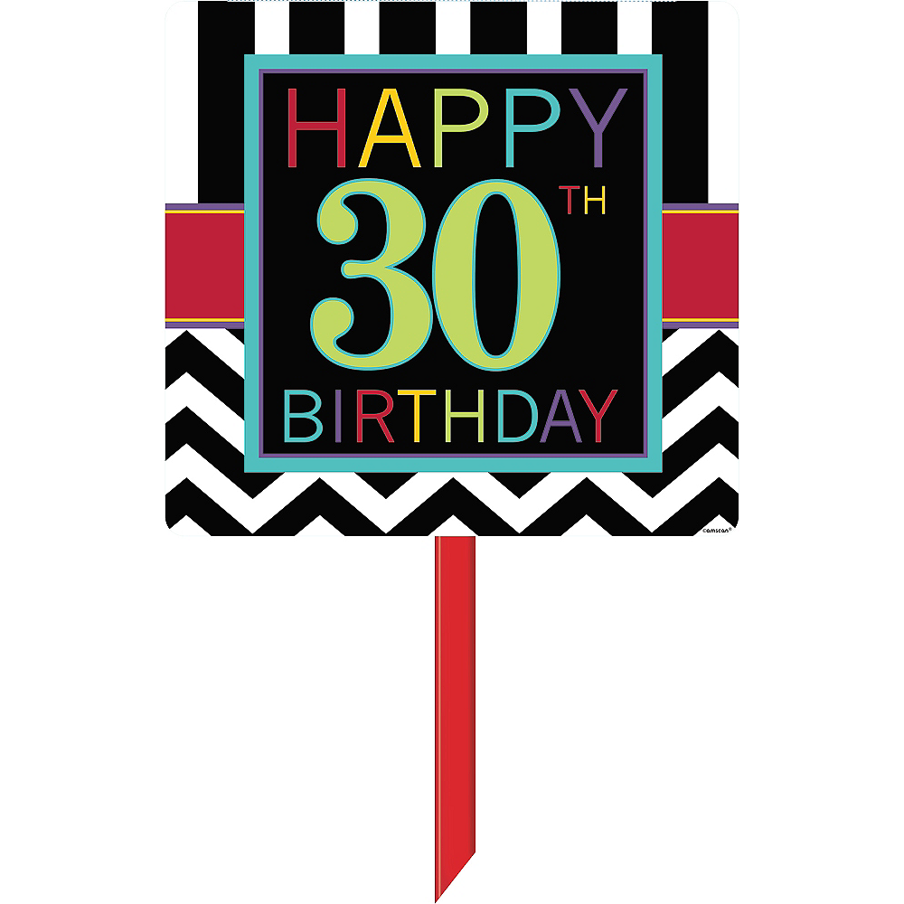 Nav Item for Celebrate 30th Birthday Yard Sign Image #1