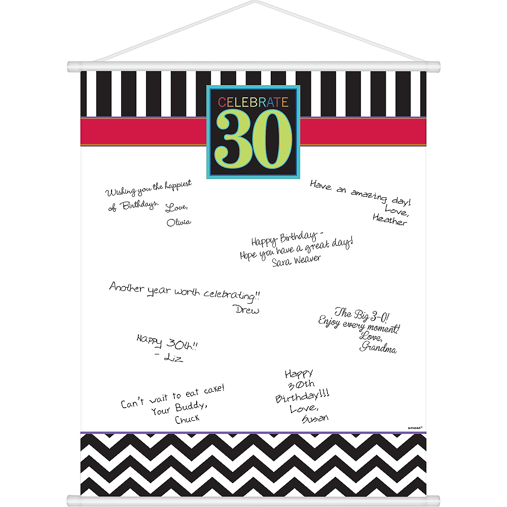 Celebrate 30th Birthday Sign-In Sheet Image #1