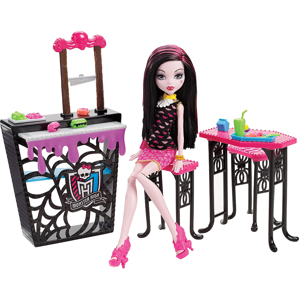 Draculaura Doll Beast Bites Cafe Playset Monster High Party City