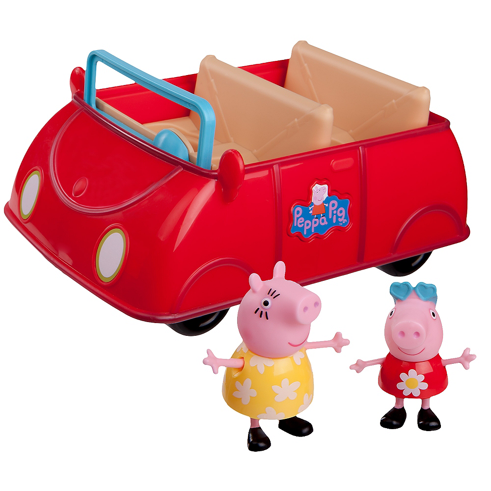 Peppa Pig Red Car Playset 3pc Image #1