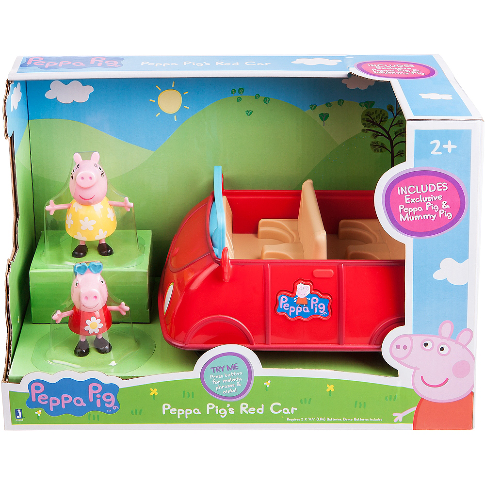 Peppa Pig Red Car Playset 3pc Image #2