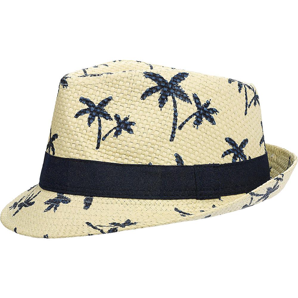 Palm Tree Straw Fedora Image #1