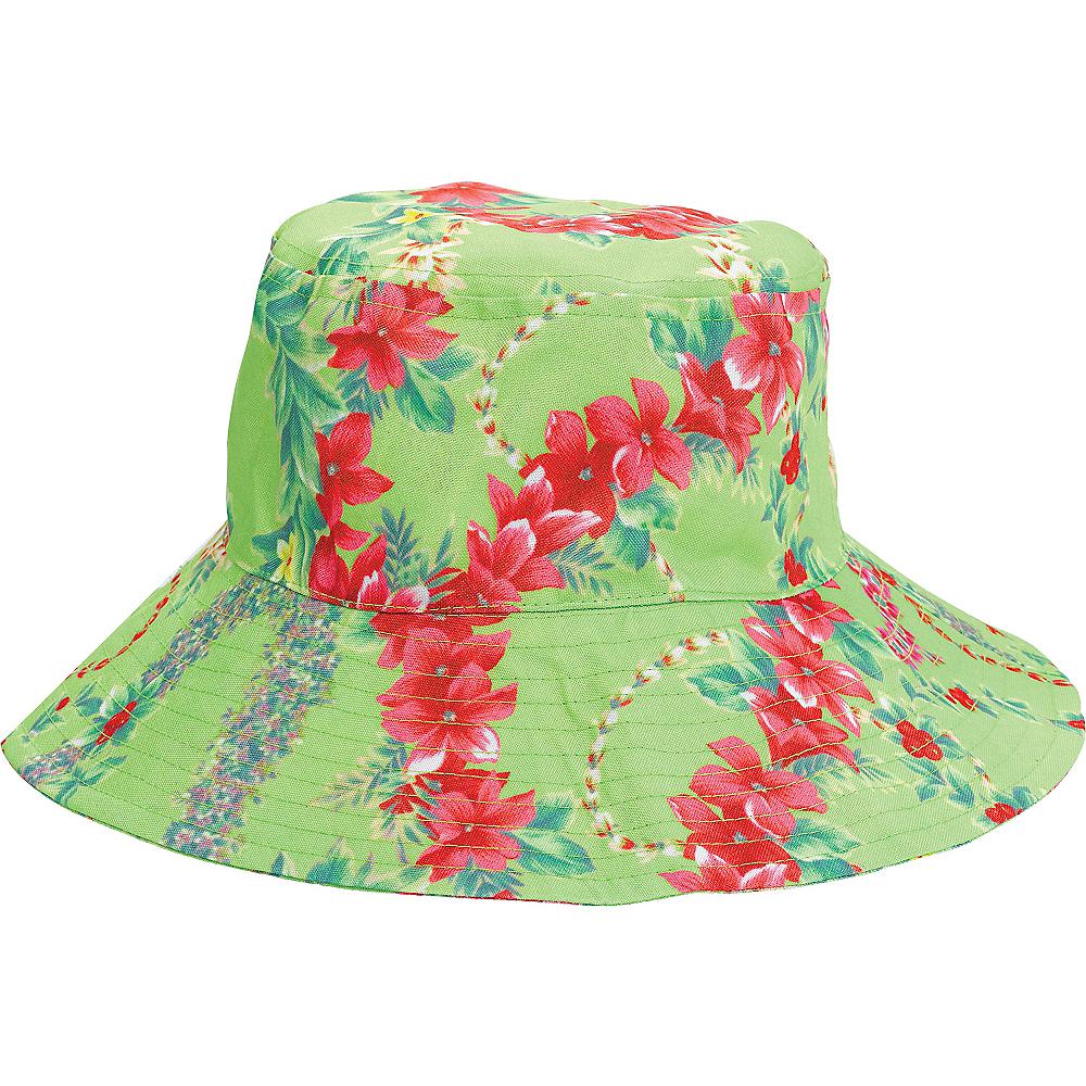Green Hibiscus Bucket Hat Image #1