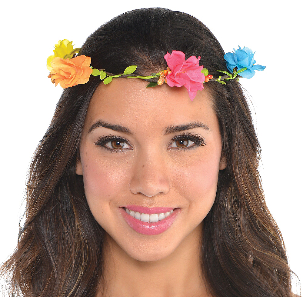 Bright Floral Headwreath Image #1