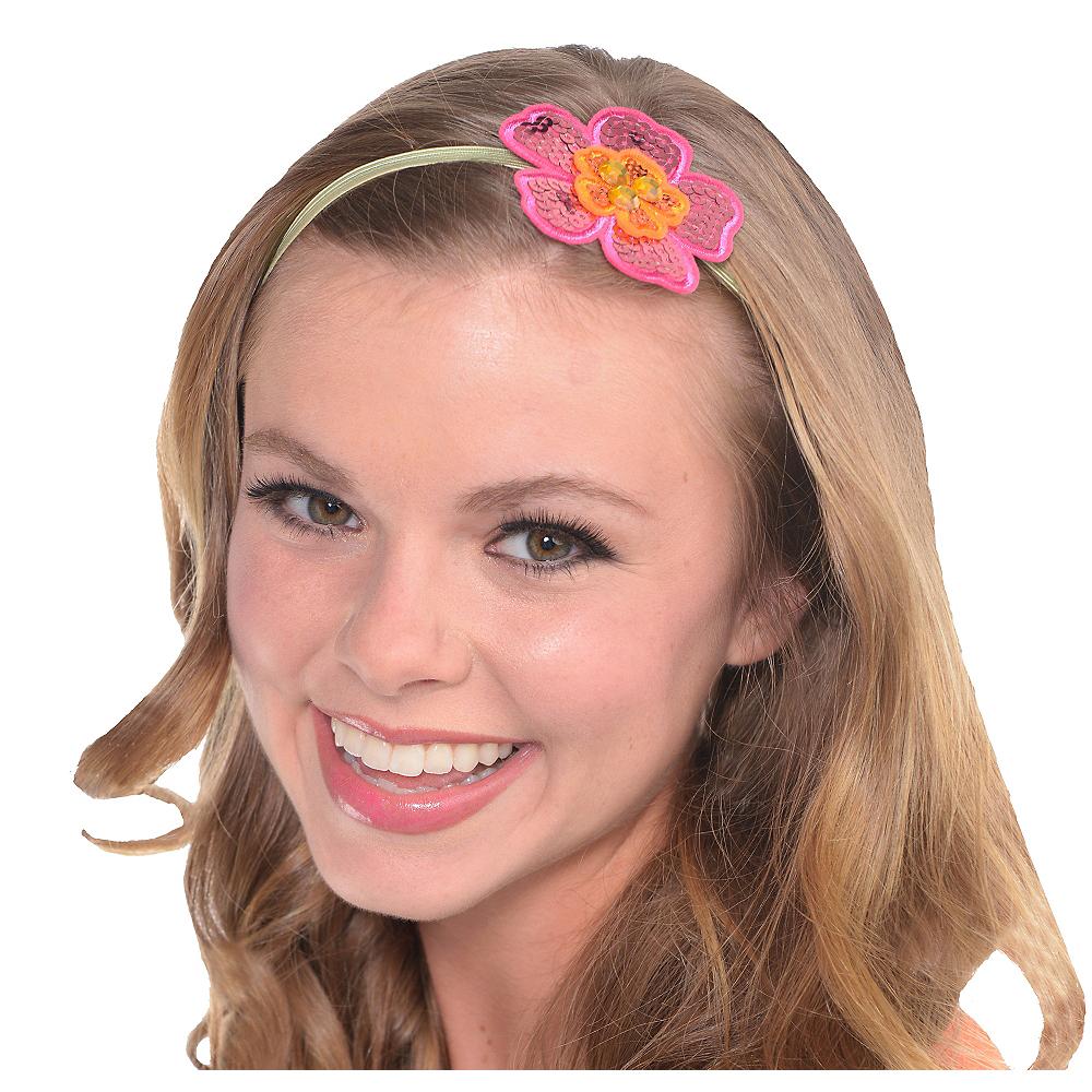 Sequin Hibiscus Elastic Headband Image #1