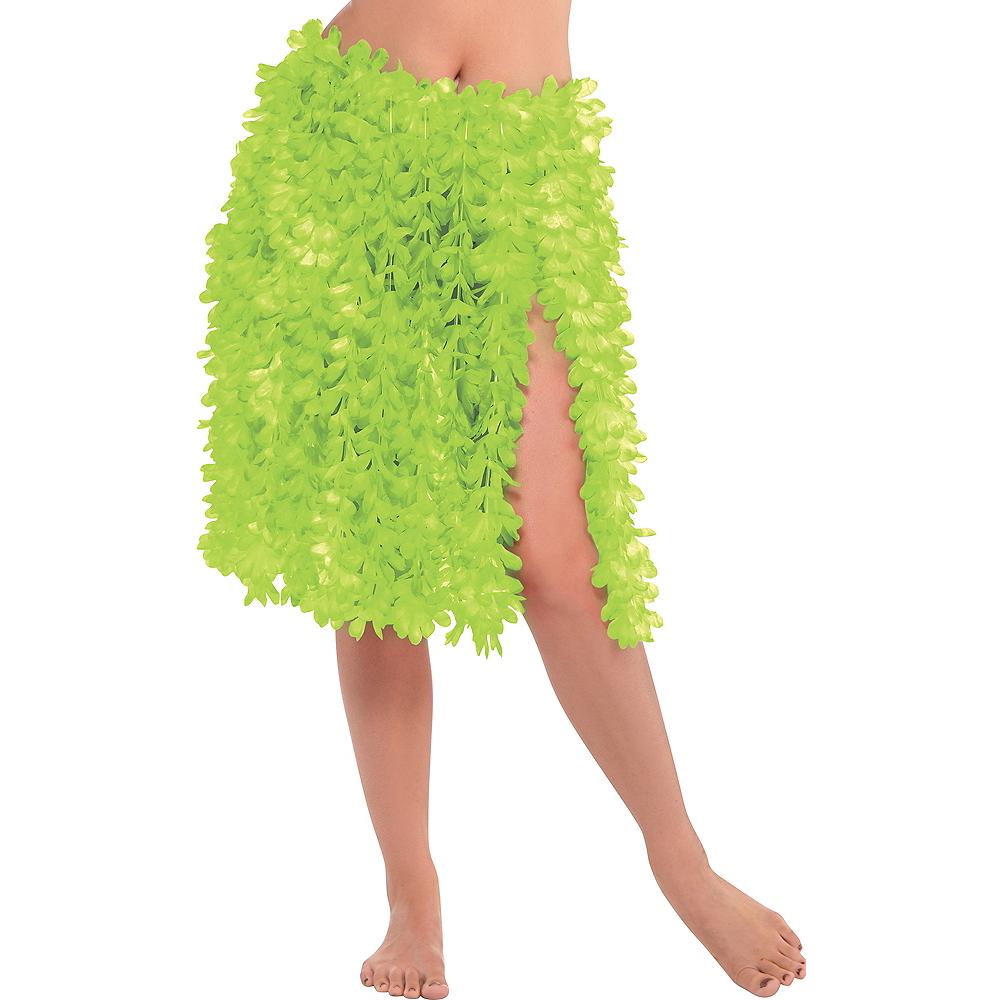 Green Flower Lei Hula Skirt Image #1