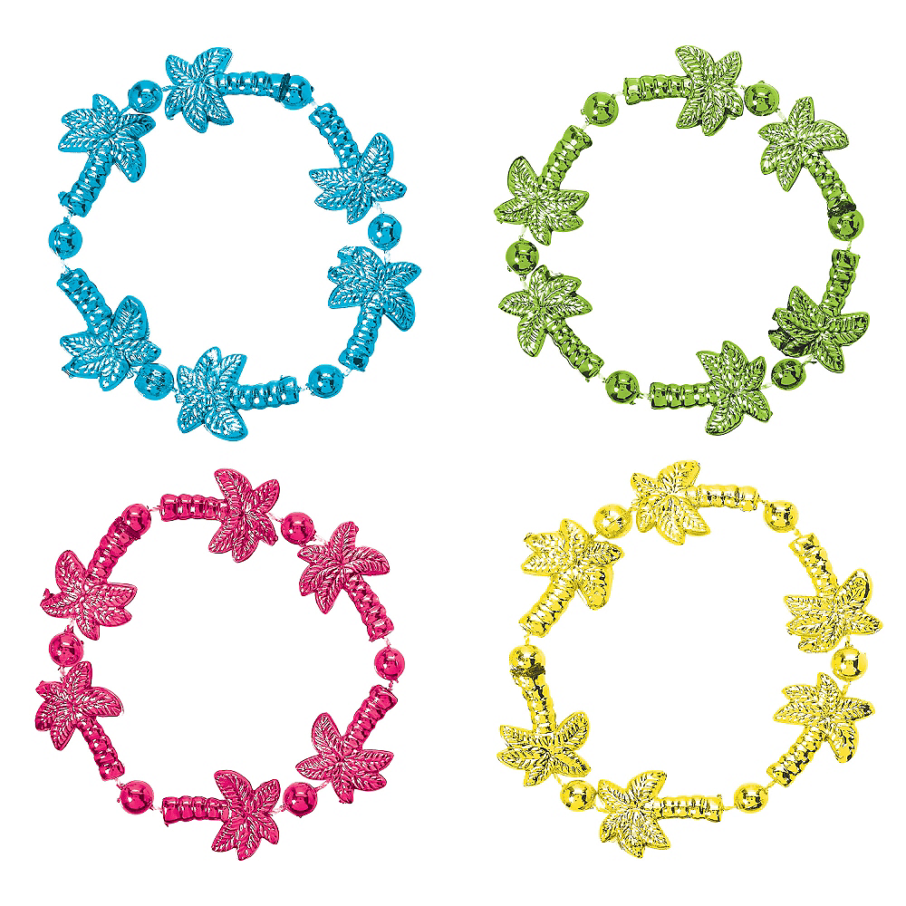 Palm Tree Bead Bracelets 4ct Image #1
