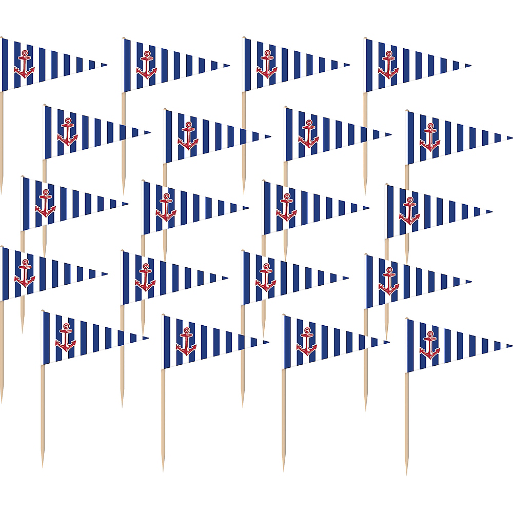 Striped Nautical Flag Picks 36ct Image #1