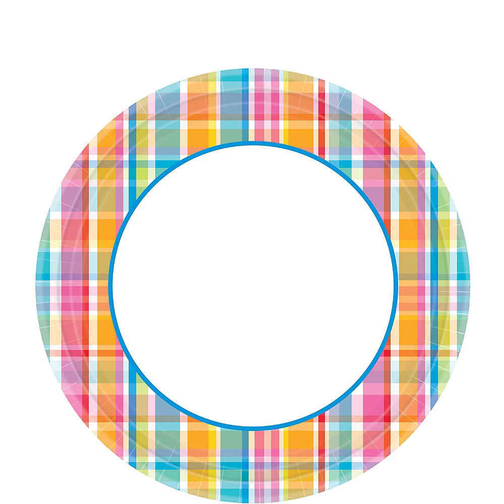 Sunny Plaid Lunch Plates 40ct Image #1