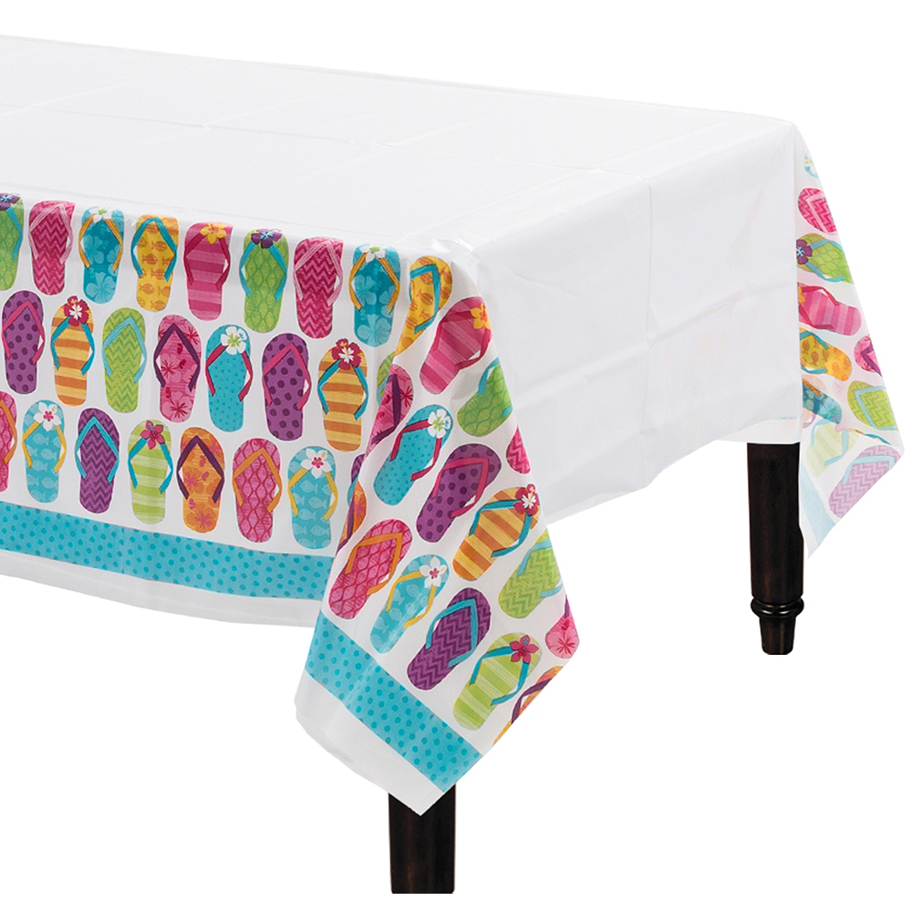 Bright Flip Flop Table Covers 3ct Image #1
