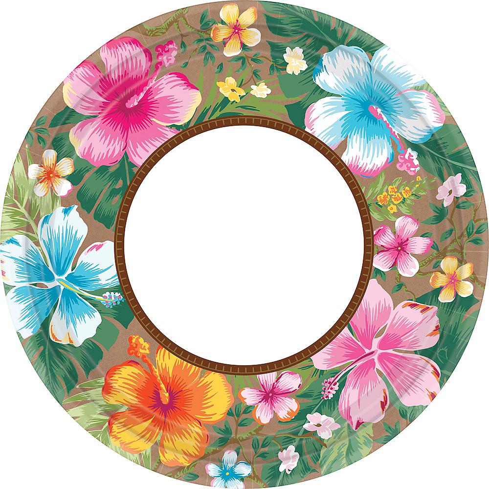 Hawaiian Hibiscus Dinner Plates 18ct Image #1