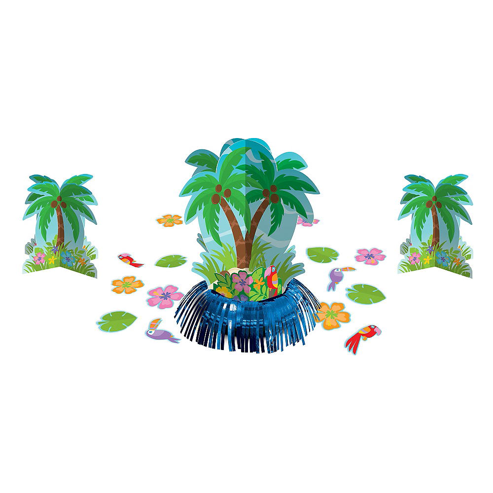 Palm Tree Table Decorating Kit 23pc Image #1