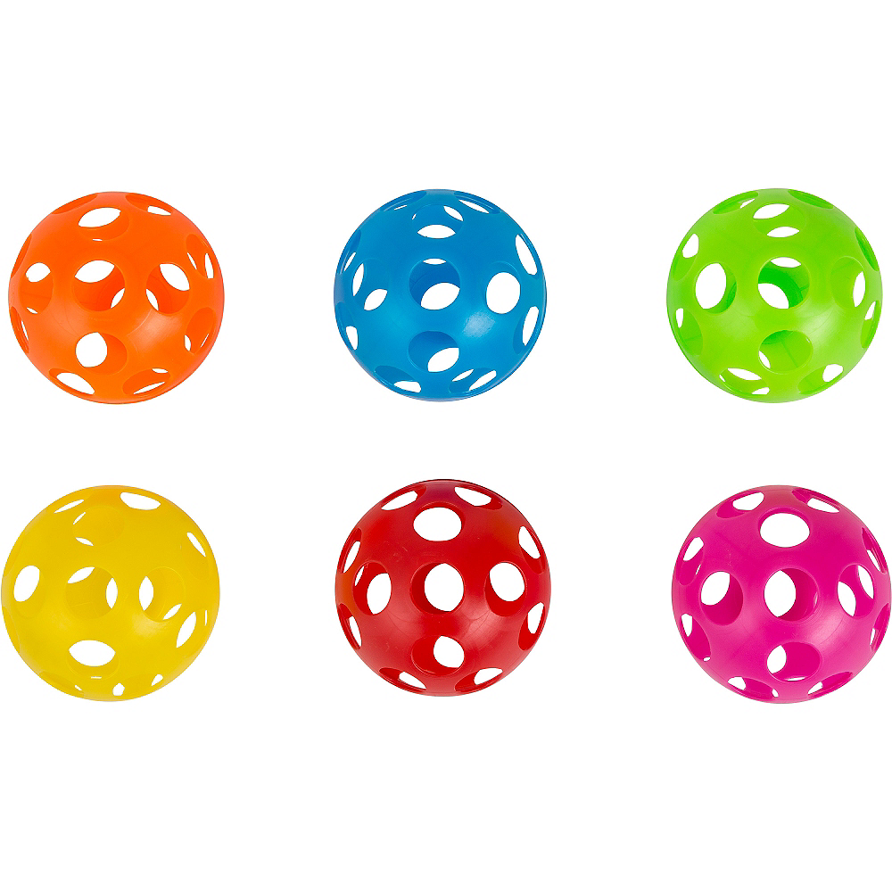 Multicolor Perforated Play Balls 6ct Image #1