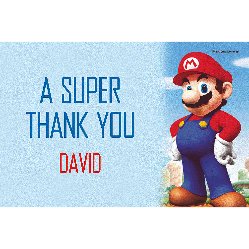 Custom Super Mario Thank You Note  Image #1
