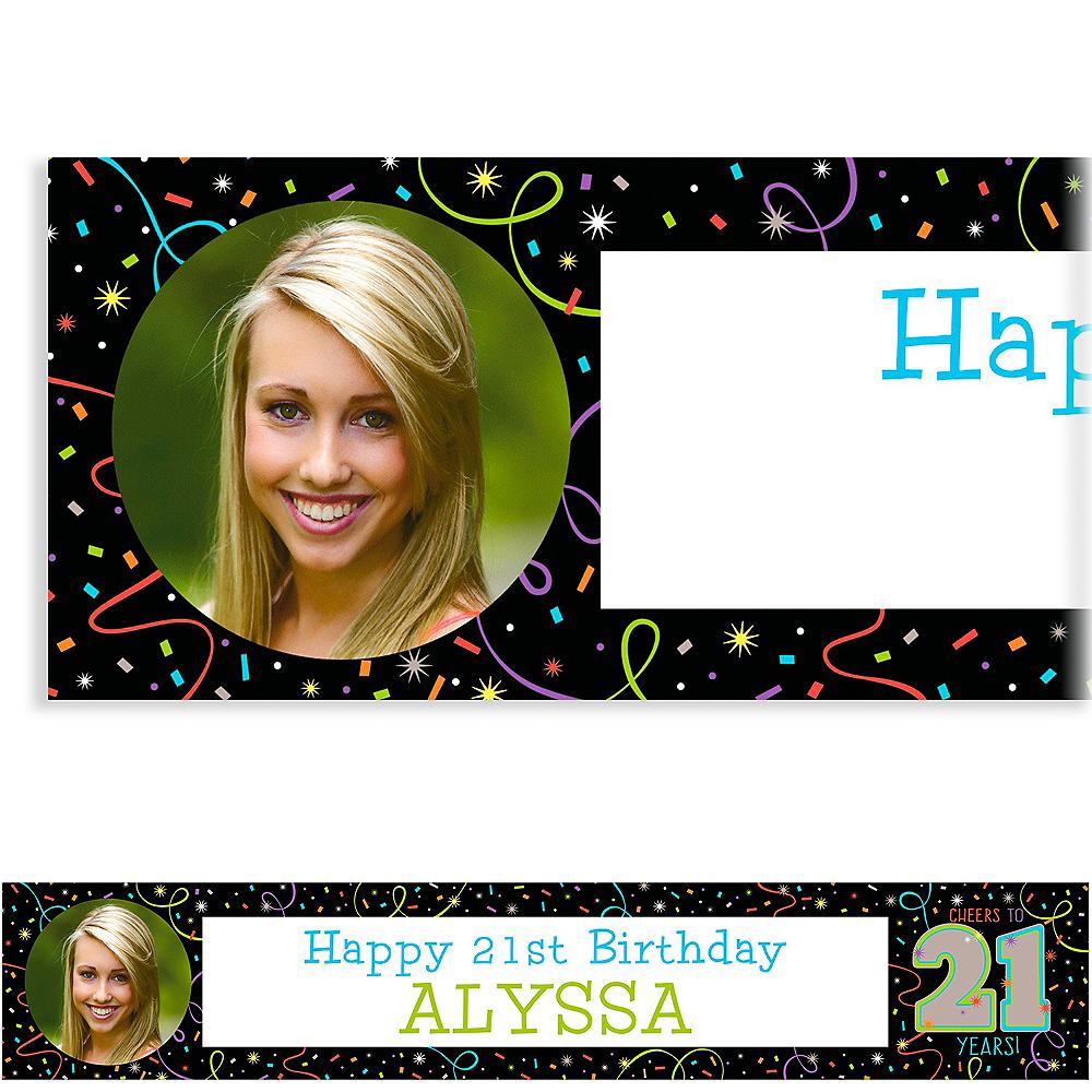 Custom Brilliant 21st Birthday Photo Banner Image #1