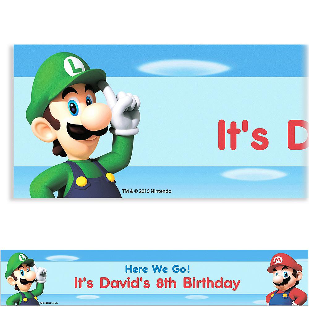 Custom Super Mario Banner | Party Supplies | Party City