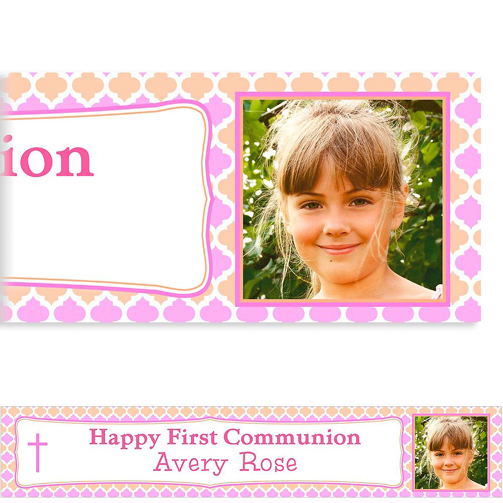 Custom Simple Cross & Diamonds Photo Banner Image #1