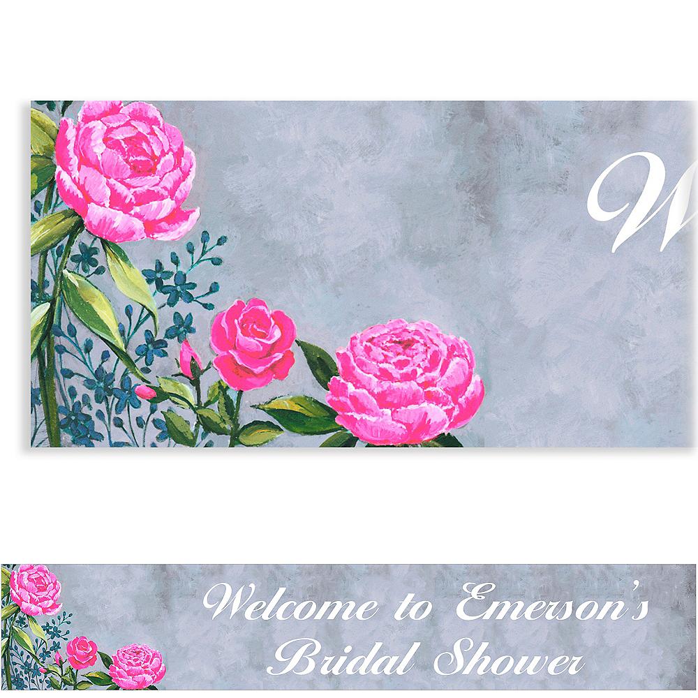 Custom Floral Brush Stroke Banner Image #1