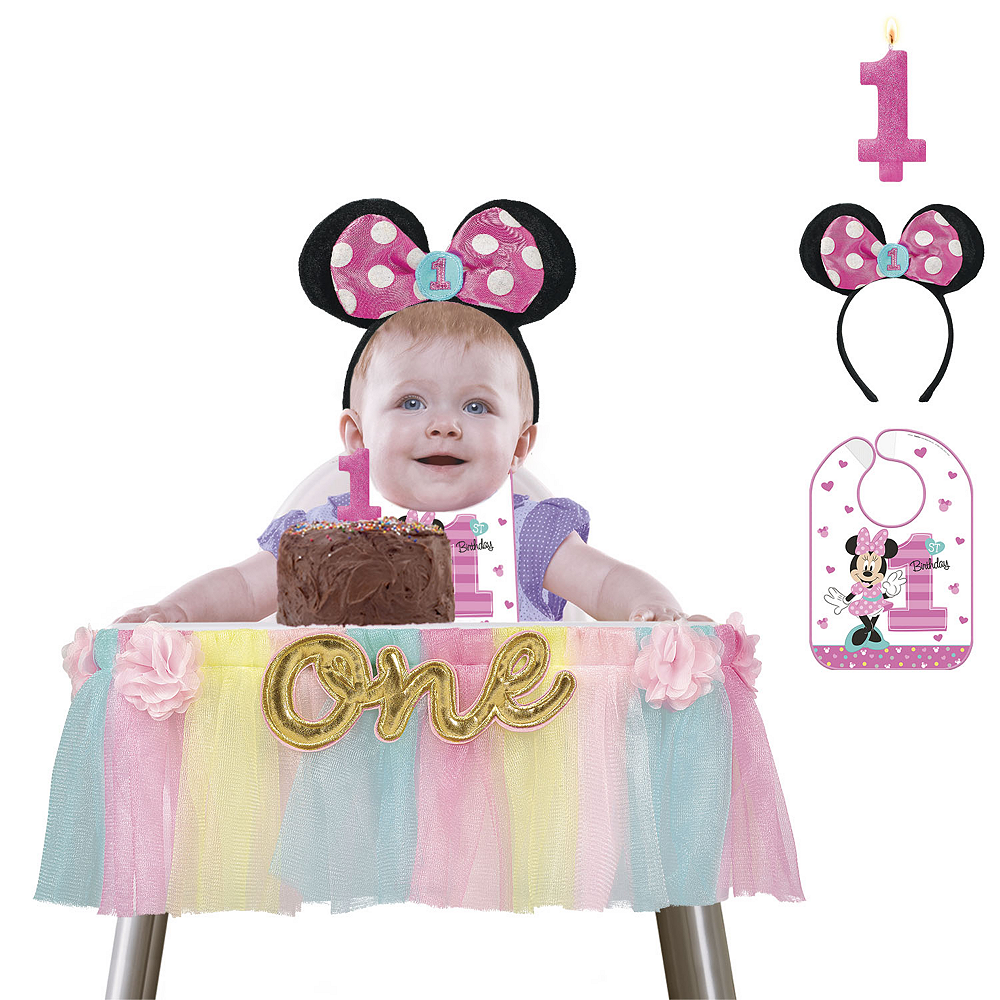 Fine 1St Birthday Minnie Mouse Smash Cake Kit Minnie Mouse 1St Funny Birthday Cards Online Unhofree Goldxyz