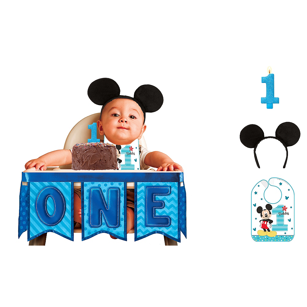 Mickey Mouse 1st Birthday Smash Cake: 1st Birthday Mickey Mouse Smash Cake Kit
