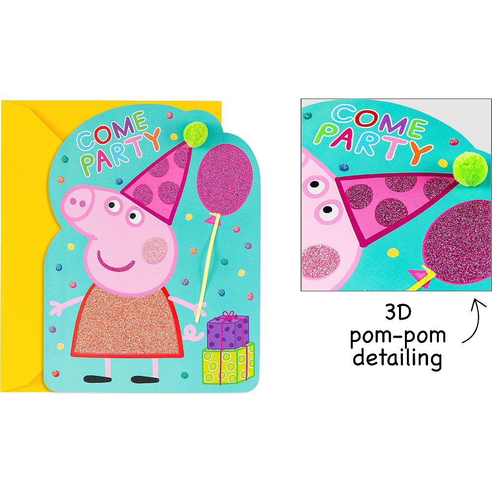 premium glitter peppa pig invitations 8ct party city