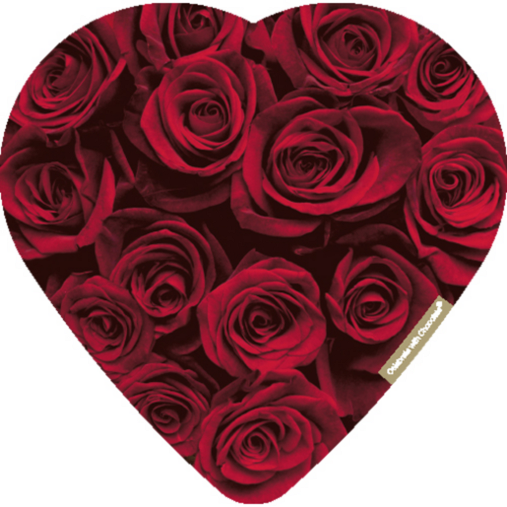 Assorted Chocolate Red Rose Valentine's Day Box 12pc Image #1