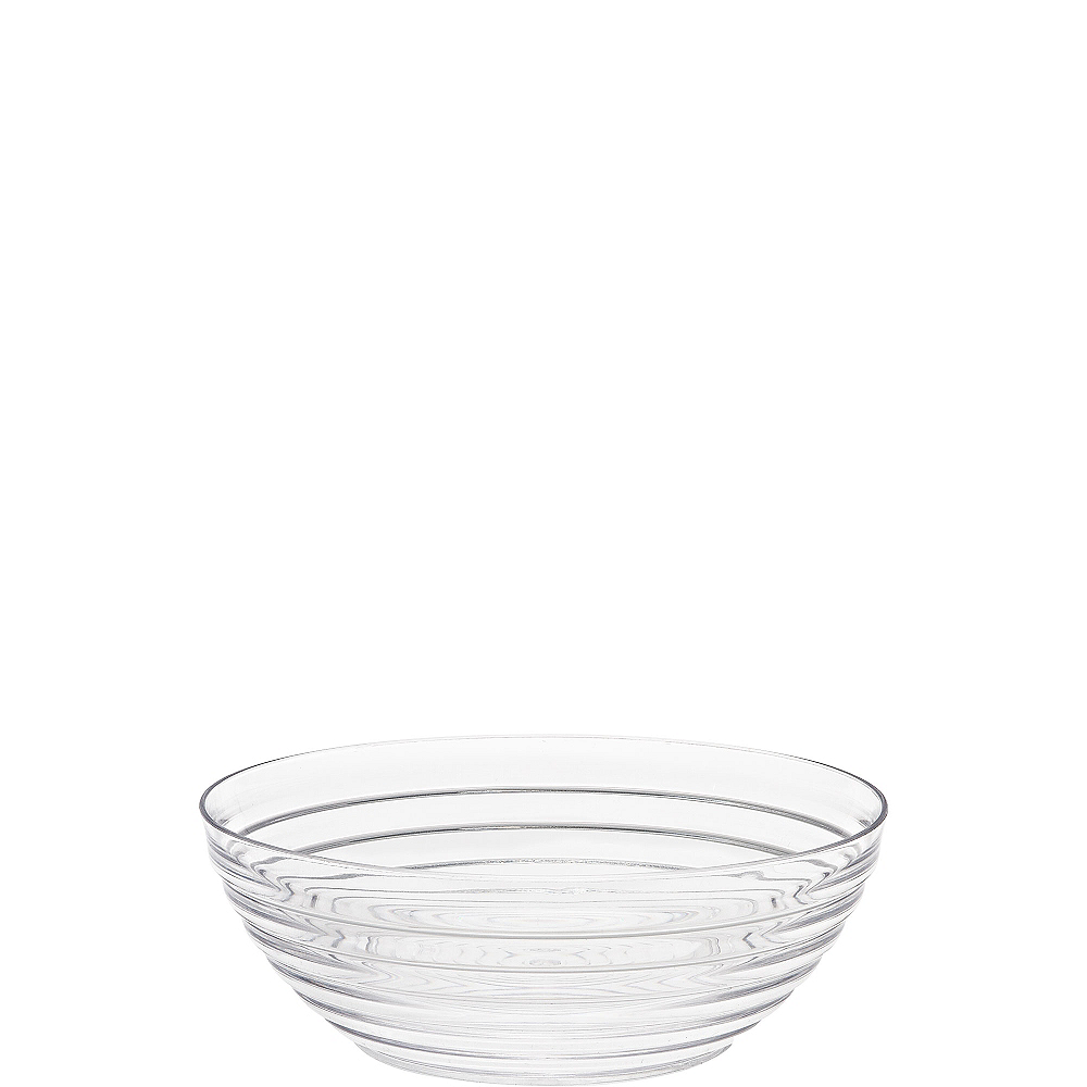 CLEAR Plastic Ringed Bowl Image #1