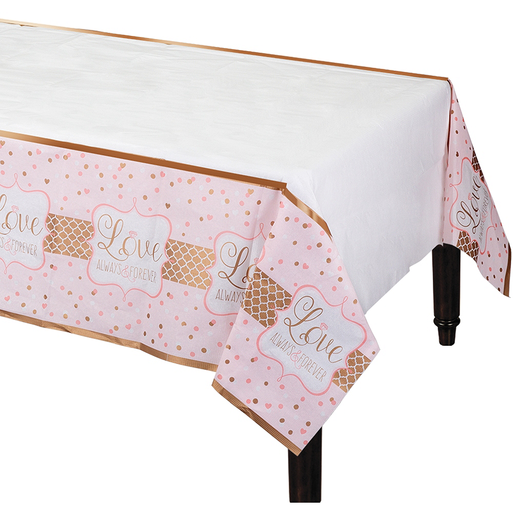 Sparkling Pink Wedding Table Cover Image #1