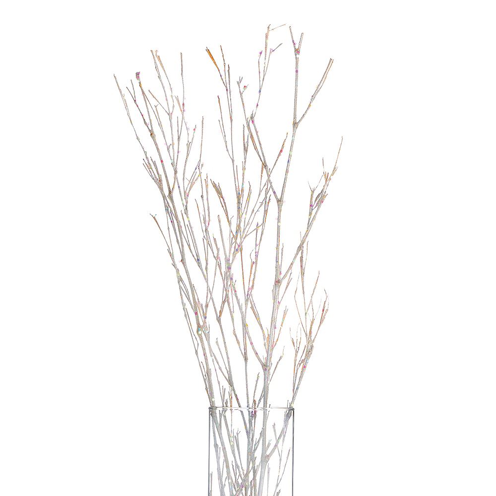Glitter White Branches 4ct Image #2