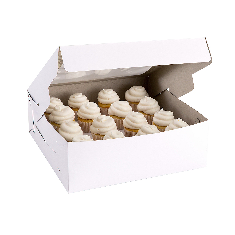 White Square Window Cake Box, 14in Image #1