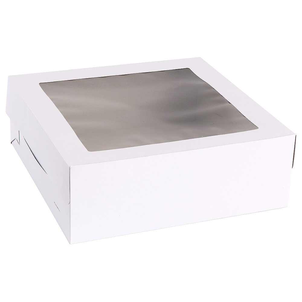 White Square Window Cake Box, 14in Image #2